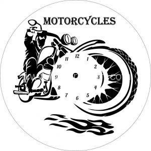 ساعت طرح موتور سیکلت