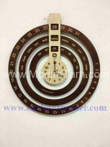 ساعت و تقویم روزشمار چوبی