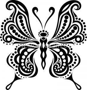 وکتور زیبای پروانه