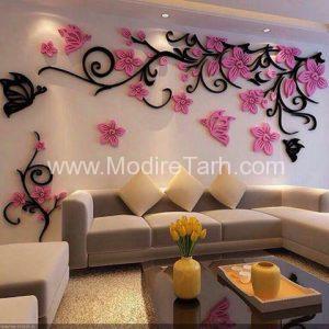طرح گل های دیواری